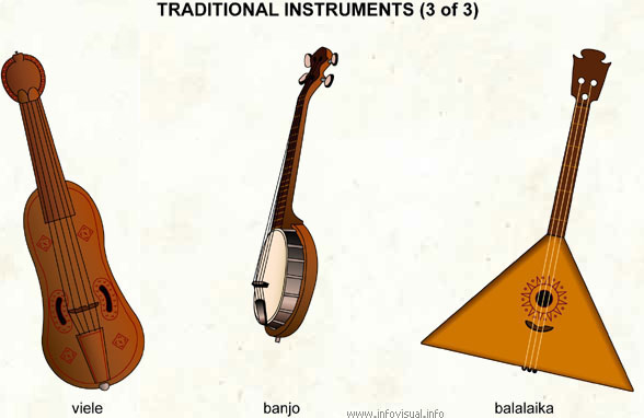 Traditional instruments (3 of 3) - Visual Dictionary