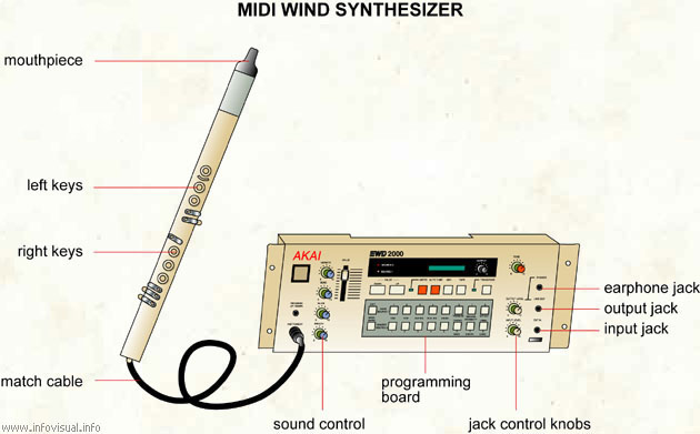 Midi wind synthesizer