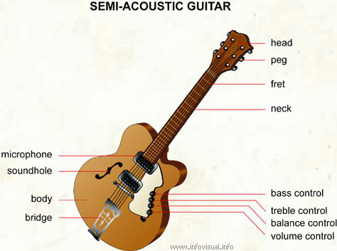 Semi-acoustic guitar