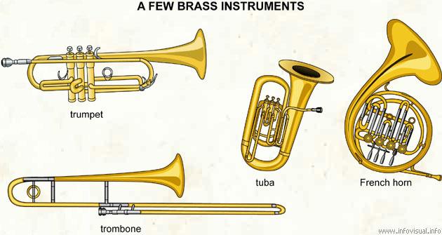 Resultat d'imatges de brass wind musical instruments