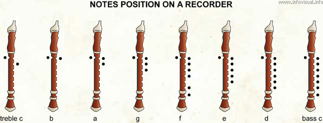 Notes position on a recorder