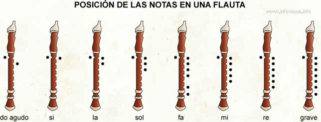 Notas en una flauta
