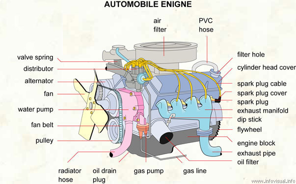 Automobile engine - Visual Dictionary
